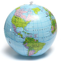 Wholesale 2015 PVC Globe Map Inflate Inflatable Earth World Teacher Beach Ball Geography Detailed Illustration Teaching Aid Toy order lt no track