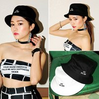 Cheap Wholesale-New Brand Stylenanda Fashion Vintage Design Letter XXX Hat For Women Men Caps Bucket Hats Unisex Freeshipping JH8270