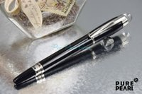 Ballpoint Pens ballpoint pen design - PURE PEARL MB SW High Quality Best Design Sliver Clip and Pure Black Roller Ball Pen