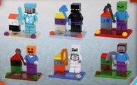Wholesale Chlidren s DIY toys building blocks minecraft overworld action figures assembling bricks Educational toy gifts