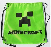 draw string bag - High Quality Minecraft bag Waterproof bags colors backpacks Creeper Draw JJ String Back pack Sling Bag cm Gifts Cartoon New