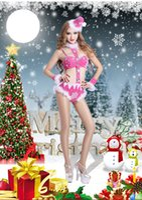 adult pink leotard - one set retail Adult Christmas underwear Christmas outfit Christmas hat bra underwear