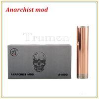 Cheap 1:1 Clone Rebuidable Anarchist Mod for Electronic Cigarette Full Machanical Mod Anarchist Mod 18650 Battery Tube Large Vapor E Cigarette Mod