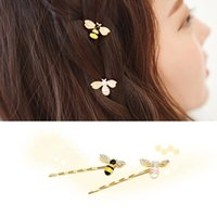 bee hair bow - South Korea is the bee animal jewelry word folder cute colorful diamond hairpin bangs children personality students
