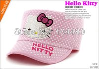 baseball cap flex fit - fashion children summer sun hat hello kitty polka dot cool kids flat top flex fitted paillette snapback baseball caps