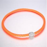 100pc gratuito MIC Shambhala de la armadura de cuero Checa Crystal Rhinestone Cuff arcilla corchete magnético brazalete de las pulseras 10 colores