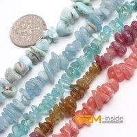 Wholesale Freeform Beads Selectable Meterials Kyanite Red Rhodonite Tourmaline Aquamarine Larimar Strand quot