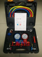 Wholesale Automotive air conditioning refrigerant table fluoride and fluoride tool table refrigerant pressure gauge double table R134a air