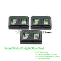 Wholesale 3 Boxes New Dental Endo Straight Green Ring Fiber Posts Tips Drill Thread Glass Protaper Files mm