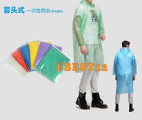 Wholesale One time Raincoat Fashion Hot Disposable PE Raincoats Poncho Rainwear Travel Rain Coat Rain Wear Travel Rain Coat