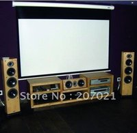 Wholesale Freeshipping inch Portable HD Rolling Motorized Projector Projection Screen Electric home Cinema screen