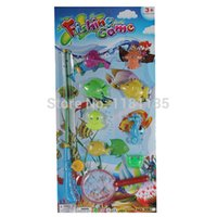 Wholesale High Quality in1 Magnetic Fishing Fish Rod Model Net Game Fun Toy Kid Children Baby Bath Time