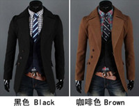 Wholesale mens coat wool man warm winter jacket wool men s jacket The new single breasted simple wool coat lapel men D5615Y