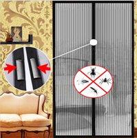 Wholesale 210 cm Screen Door Curtain Magic Mesh Hands Net Magnetic Anti Mosquito Bug Divider Curtain Net Magnetic