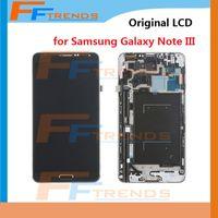 Cheap Original LCD Screen & Digitizer Assembly + Frame for Samsung Galaxy Note 3 III N900 N900R4 N900T N900P N900V N9006 N900A N9005