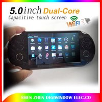 Wholesale 8GB video games quot touch screen Dual core game console player android4 wireless WIFI tablet pc HDMI P cameras