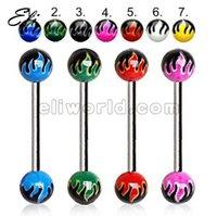 Cheap Acrylic Ball Tongue Ring Best Tongue Ring Barbell