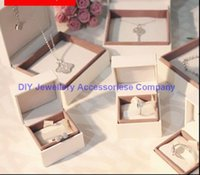 ring boxes - 20pcs Pandora jewelry box charm box beads box earring Box pandora bracelet box necklace box high quality ring box with logo
