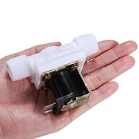 Wholesale 1 PC Electric Solenoid Valve Magnetic N C Water Air Inlet Flow Switch v