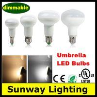 Wholesale Dimmable LED Bulbs Lights E27 E14 W W W W LED R50 R63 R80 R95 Spotlight LED Lamps CE UL Listed AC V