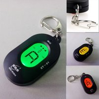 Wholesale Portable Mini Key Ring LCD Digital Chromatic Tuner with Mic Energy saving Automatic Tuner I183
