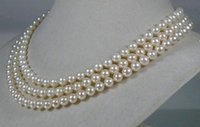 asian face cream - gt gt gt Genuine AAAA mm round white cream akoya sea pearl necklace quot