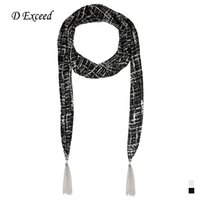 Wholesale Classic Houndstooth Printed Scarves Personality Check Multifunctional Scarves Necklaces Ladies Scarf Chic Hijabs D Exceed SC150241