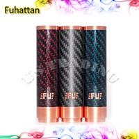Wholesale Carbon Fiber Fuhattan Mod e Cigarette Machanical Mods Clone Manhattan Mod Blue Red Fuhattan Mods Magnet Bottom e Cig Mods for Battery
