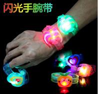 Wholesale Cartoon LED flashing Bracelet Glow bracelet with happy light bracelet Sports wristband for kids