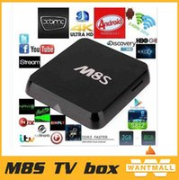 Wholesale Android GB RAM GB NAND FLASH Media Player Amlogic S812 Quad Core K M8S Smart TV Box with wifi bluetooth