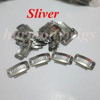 Wholesale Sliver cm teeth toupee wig hair extension clip snap clip section clip for hair extensions colors