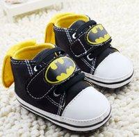 Wholesale 2015 Batman cartoon girl black casual shoes CM CM CM soft bottom Velcro newborn toddler shoes baby walker shoes pairs CL