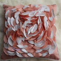 Wholesale Hold Pillow Manufacturers Selling Process Lace Flower Pillow Car Chair Cushion For Leaning On On Petals Pillowcase Soft Cushions Sofa Weddin