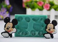 Wholesale 2015 New Mickey Mouse silicone Fondant Molds Chocolate Candy Silicone Cake Mould Fondant Cake Decorating Tools silicone baking accessories