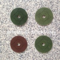 Wholesale 4 Step Flexible Wet Diamond Polishing Pads mm for Granite Marble Terrazzo Concrete Engineered Stone Porcelain and Quartz