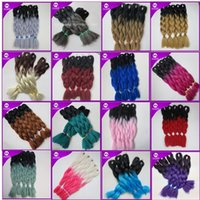 Wholesale Kanekalon synthetic Braiding hair inch g Ombre Two Tone color Xpression jumbo braids Hair Extensions colors Optional