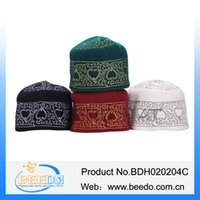 arabic prayers - Fashion arabic Turban Embroidery Wool Muslim Cap Islamic Hat Muslim Prayer Hat