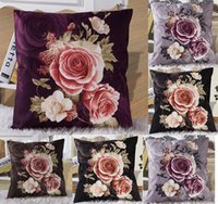 classic sofa - Classic Rose Throw Pillow Case Car Sofa Bed Cushion Cover Shell Home Decor