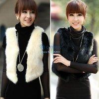 Wholesale Low Price Fashion Faux Fur Vest Gilet Women Waistcoat Hot B11 SV006198