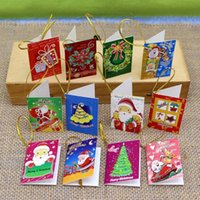 Wholesale Hot sale style Christmas paper greeting card ornment for christmas tree Christmas Decorations