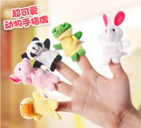 Wholesale 100 Cartoon Animal Finger Toys For Baby cm Family Fun Lovely Stuffed Design Parents tell a story to Baby