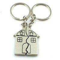 Jour les bijoux de la mode New Romantic Couple Maison Keychain personnalisé souvenirs Pendentif Porte-clés Valentine pour la livraison gratuite 0136