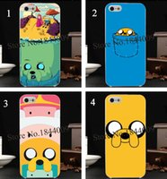 adventure time case - 4pcs stacked Adventure Time Hard Skin transparent stealth Case Cover for iPhone s s c