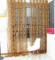 beautiful screen doors - 2015 New Elegant Luxury Door Window Curtain Beautiful Drape Panel Gauze Assorted Scarf Voile Fashion Curtain Screening