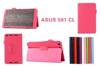 Wholesale Lichee Grain Folding Folio PU Leather Case Cover for Asus Memo pad ME581CL quot inch Table PC