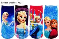 cartoon socks - Frozen Anna Elsa Socks Children Girls cartoon ankle socks girl s princess sneaker socks kids sockings S L SIZE