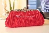 Wholesale Red Bridal Hand Bag Bridesmaids Hand Bag Dinner Bag Formal Dress Bag