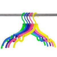 Wholesale Candy Colors Magic Portable Folding Plastic Clothing Coat Hanger Travel Hanger