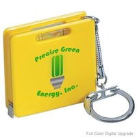 advertising promotional item - 1M Ft Mini Square Steel Tape Measure With Level Keyrings Advertising Promotional Products New Hot Items Custom Logo Color