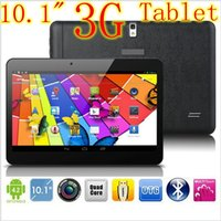 Wholesale 3G Tablet pc Quad Core Android Tablet Phone Inches Tablet Bluetooth WIFI GPS WCDMA GSM Dual Sim Card Tablets